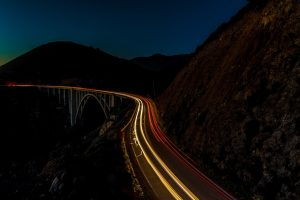 Bixby bridge - light trails