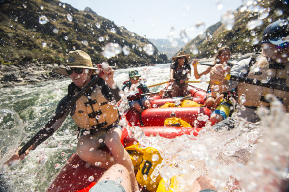 Whitewater Rafting, Lower Salmon Canyon, Near Lewiston, Idaho. Photo Credit: Idaho Tourism