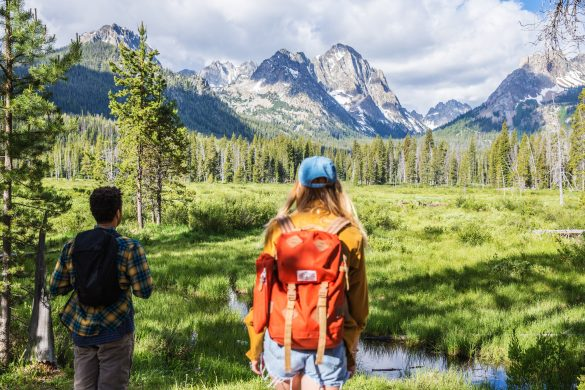 Hiking, Fishhook Creek Trail Near Redfish Lake, Stanley, Idaho. Photo Credit: Idaho Tourism