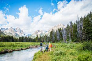 Hiking, Fishhook Creek Trail Near Redfish Lake, Stanley, Idaho. Photo Credit: Idaho Tourism