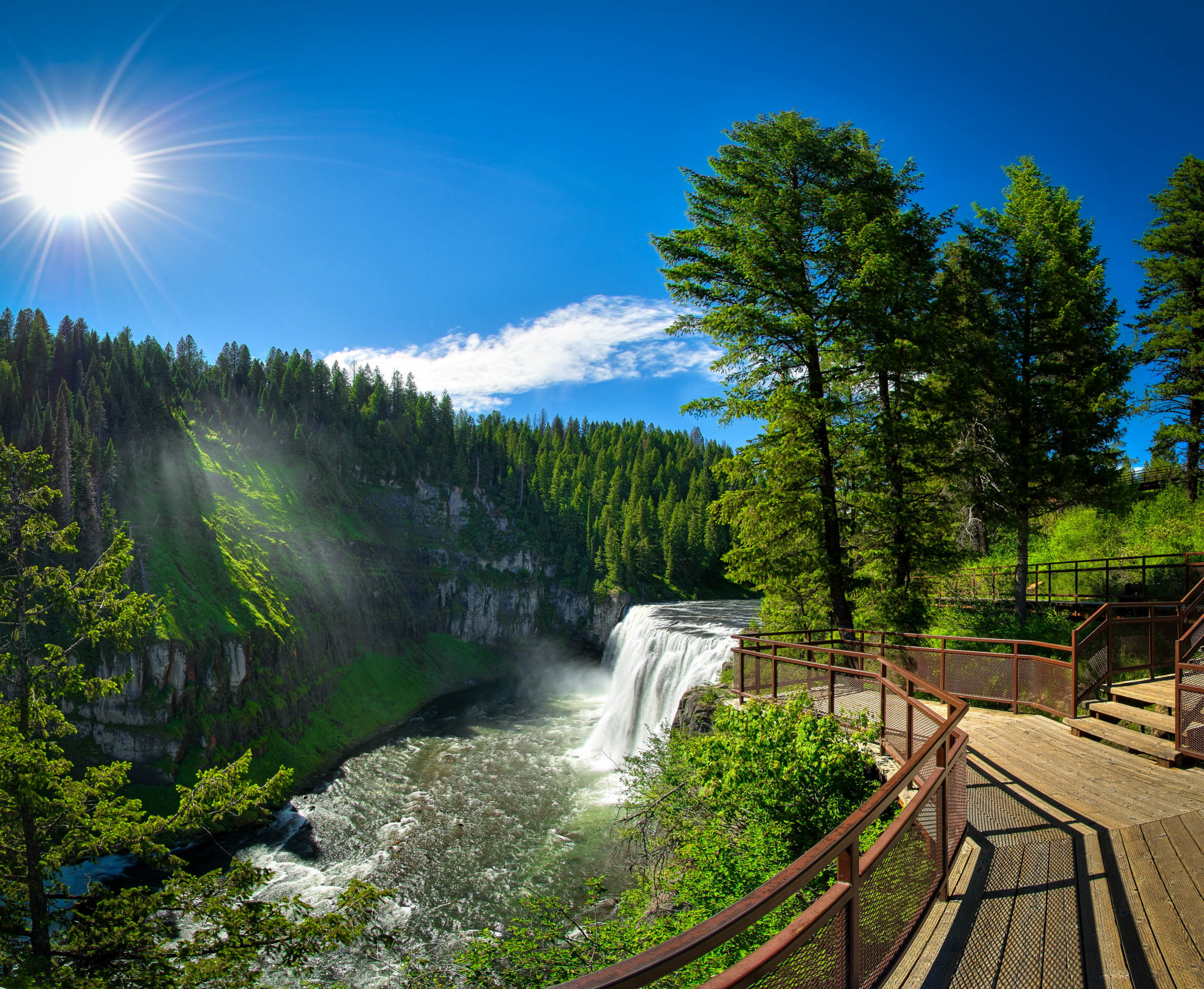 Upper Mesa Falls, Ashton, Idaho. Photo Credit: Idaho Tourism