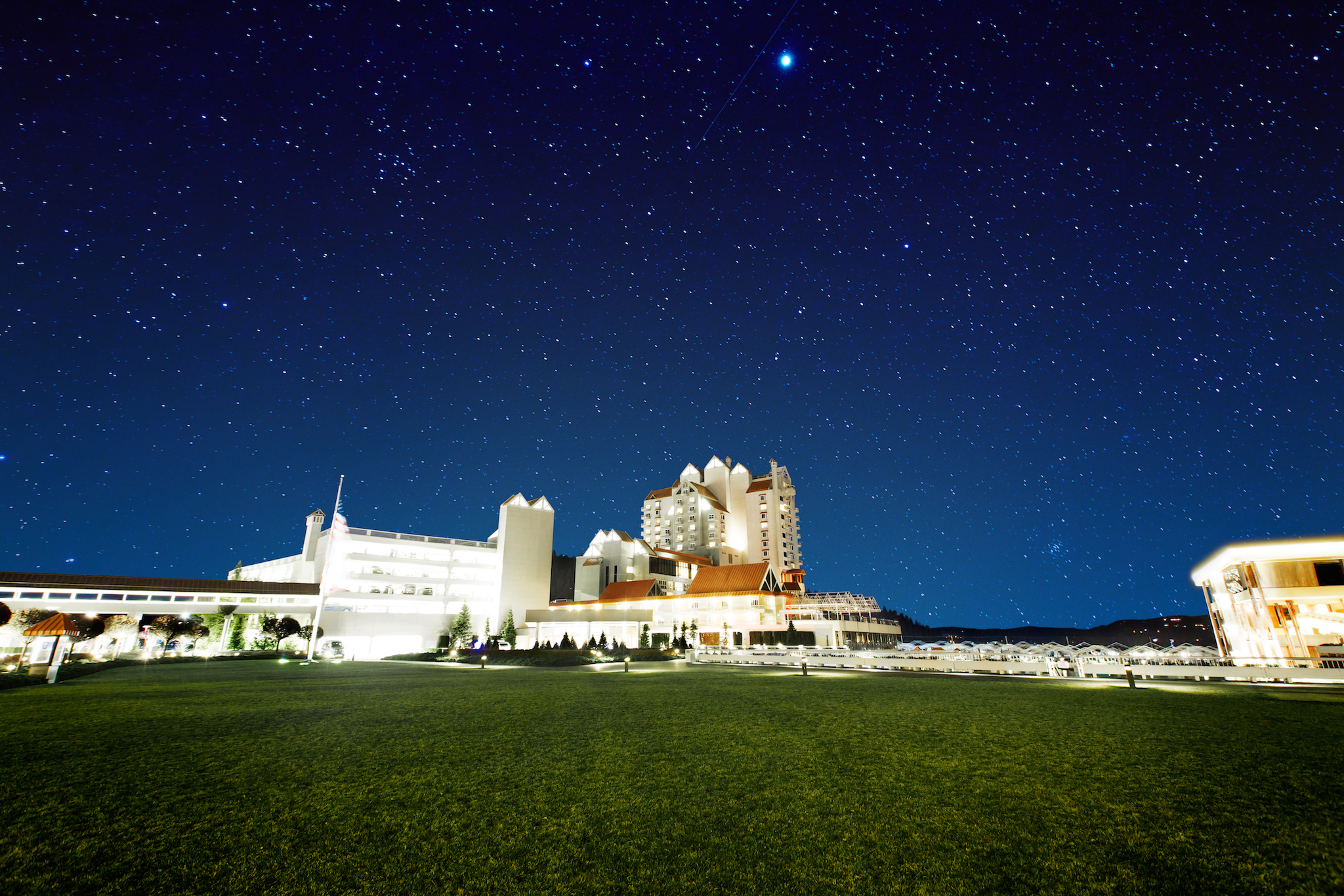 Night sky, The Coeur d'Alene Resort, Coeur d'Alene, Idaho. Photo Credit: Idaho Tourism