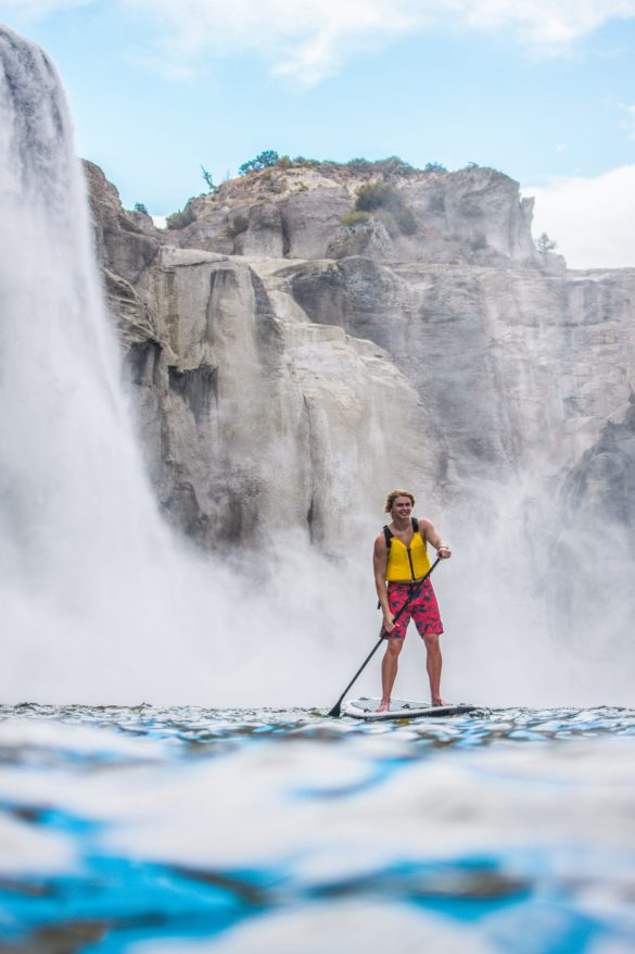 Paddle Boarding, Shoshone Falls, Twin Falls, Idaho. Photo Credit: Idaho Tourism