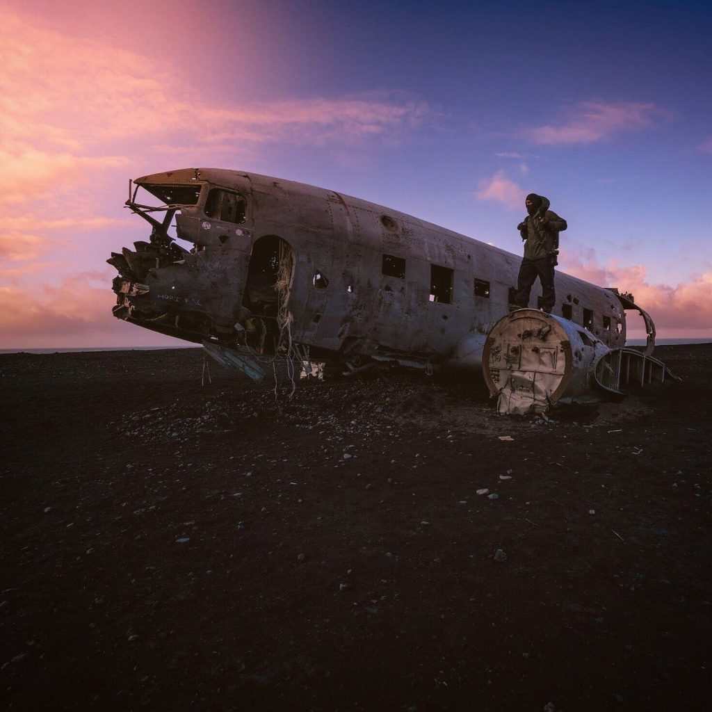 Iceland plane wreck photo