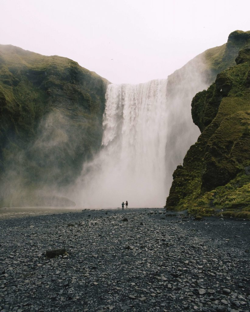 Epic waterfall Iceland