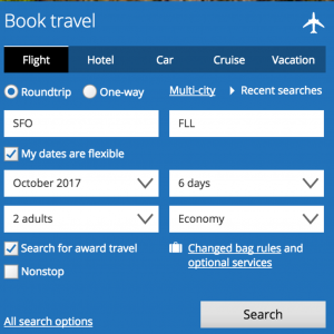 United rewards search image